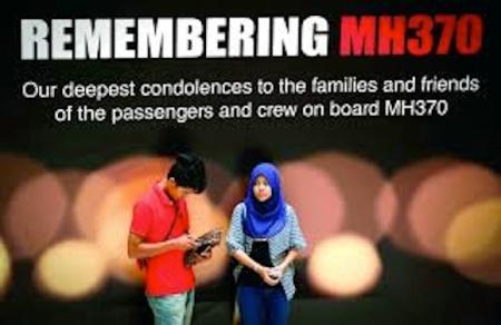 MH370 billboard condolances