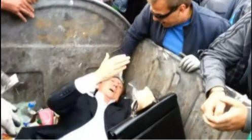 Ukraine politician in bin