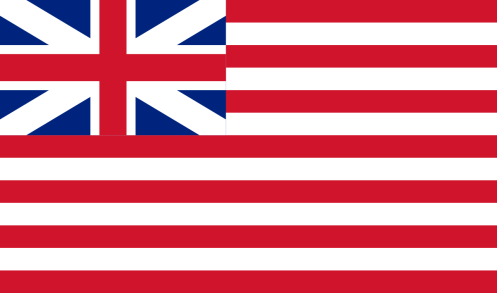 The British Crown runs the U.S. legal system  Flag_of_the_british_east_india_company_1707