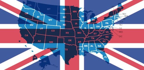 The British Crown runs the U.S. legal system  United-states-america-british-flag