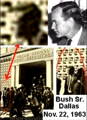JFK Jr. told the world who murdered his father Jfk-photo-george-h-w-bush-at-tsbd-1
