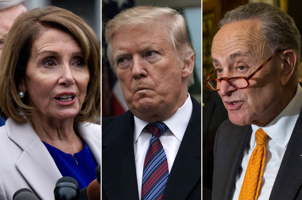 Image result for Trump Puts Schumer and Pelosi in a Brilliant Vise Grip